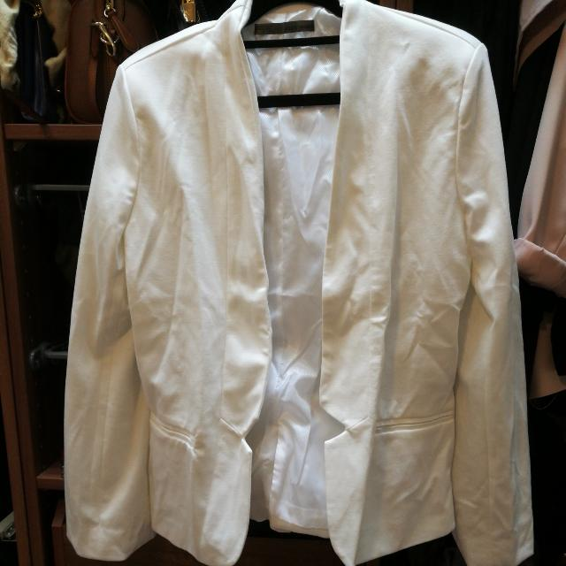 White Blazer Size L