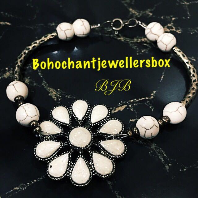 White Matte Onyx Bracelet