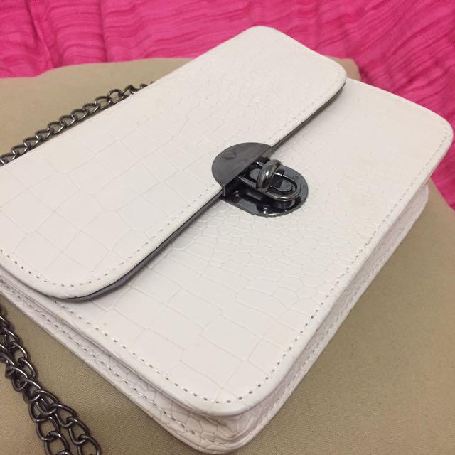 White Mini Sling Bag