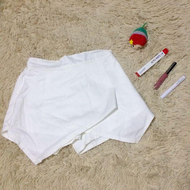 White Origami Shorts