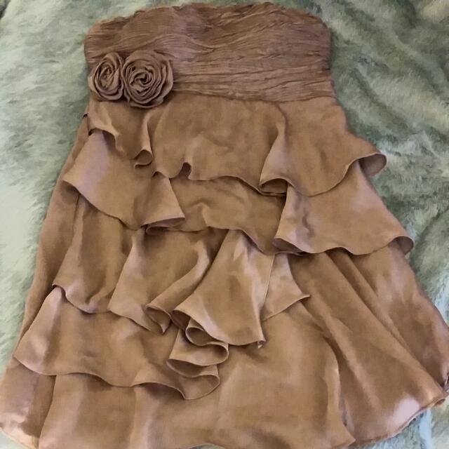 Yaya & Co. Strapless Ruffle Dress