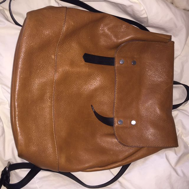 Zara Trafaluc leather backpack