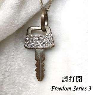 項鍊 鑰匙 鑽 金色 金屬  #台北台中可面交 #轉轉來交換