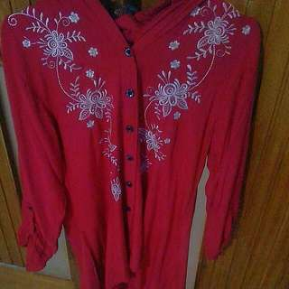 Tunik Red Preloved
