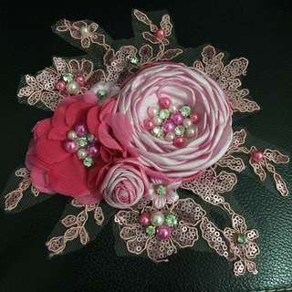 NEW! Handmade Flowers Hairpieces Baby Pink