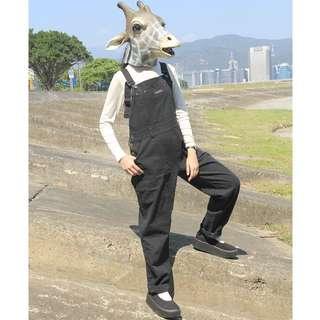{:::Giraffe 長頸鹿人:::}_古著黑牛仔長吊帶褲