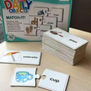 拼字拼圖 Match It 串字 時間 身體 教材 學習 Jigsaw Puzzle