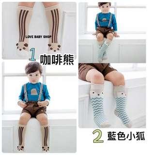 🚚 現貨 韓版兒童止滑中筒造型襪