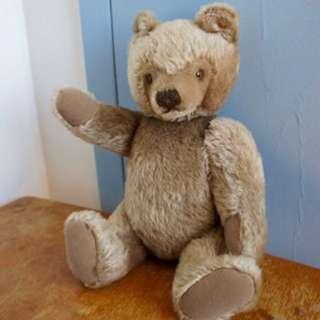 """STEIFF Original Teddy Bear, Blonde Mohair Teddy Bear with Jointed Limbs, 14"""" 0202/41"""