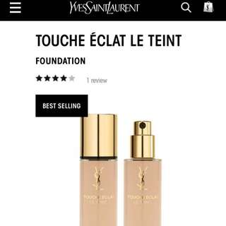YSL touché Éclat Illuminating Foundation