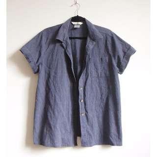 button down short sleeve top