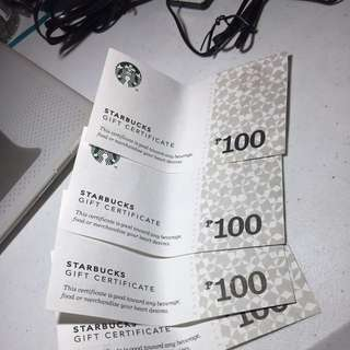 Starbucks Gift Certificates Worth PHP400