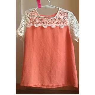 (Kashieca) Orange Laced Top