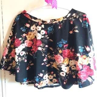 (Forever21) Floral skirt