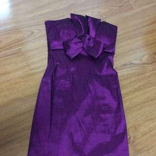 Beautiful Strapless Purple Dress