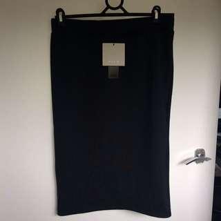 Black Midi Pencil Skirt - Size M