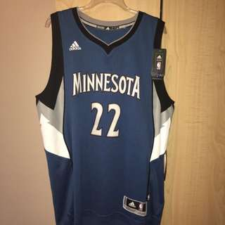 Men's Authentic Adidas Minnesota Jersey - 22 Wiggins