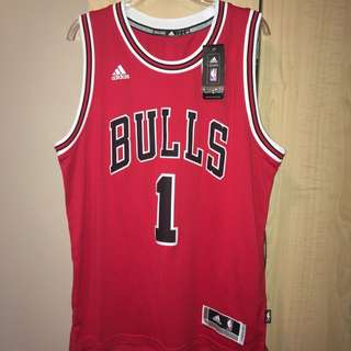 Men's Authentic Adidas Chicago Bulls Jersey -1 Rose