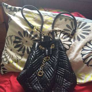 Bardot Black/gold BackPurse