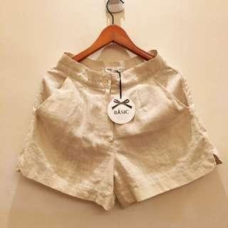 Basic棉麻短褲S
