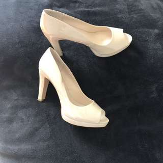Beige Platform- Nine West Size 9