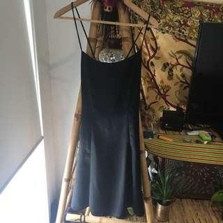 Satin Slip Dress With Corset Style Back