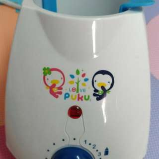 PUKU溫奶器,藍色企鵝溫奶器,母乳加熱器,加熱器