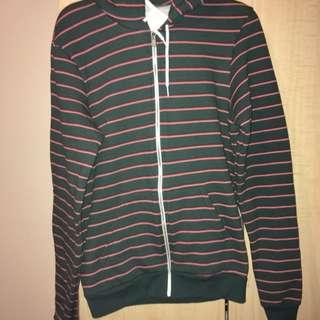 Men's American Apparel Striped Fleece Sweater - Size M