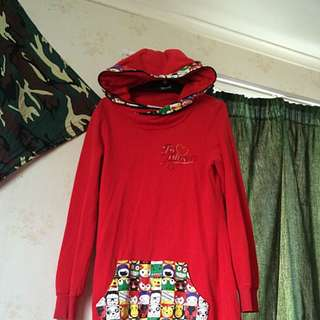 Red Eruner Long Hood
