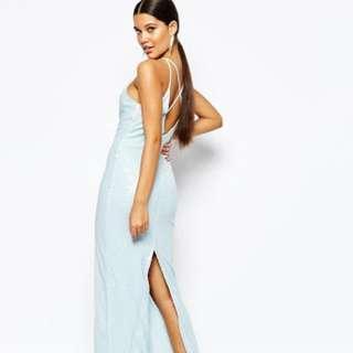 Light Blue Sequin Ball/formal Dress