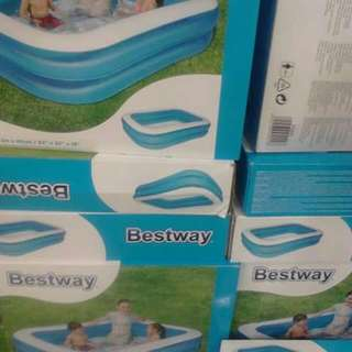 "Original BESTWAY Inflatable Pool Length: 83"" Width: 56"" Height: 18"" Limited Stocks!"