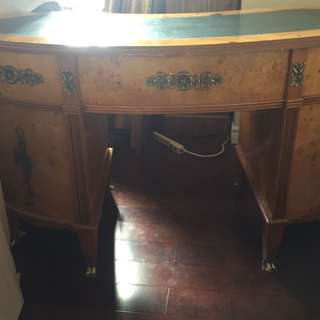 Antique french kidney shape writing desk