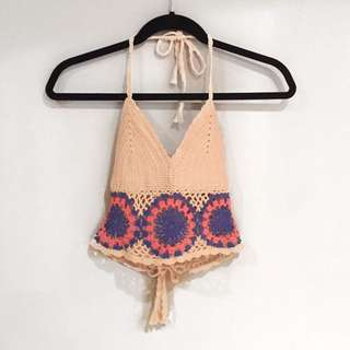 Knit Backless Crop Top