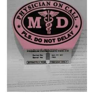 Pink Doctor's Emblem Pink Car Plates