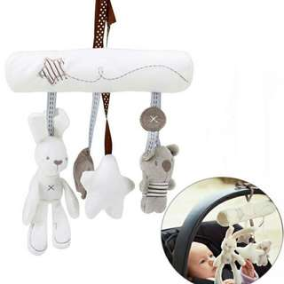 Momas Rabbit And Friend Musical Hang Toy
