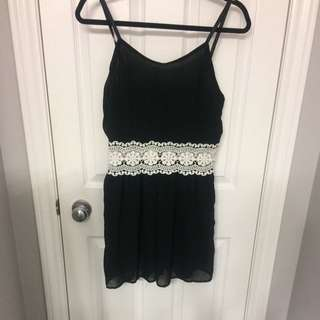New Black And White Romper