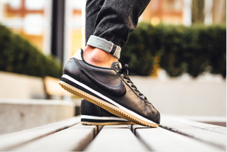 Nike Classic Cortez Leather Premium 黑白相間