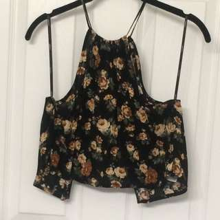 New Open Back Halter Neck Top