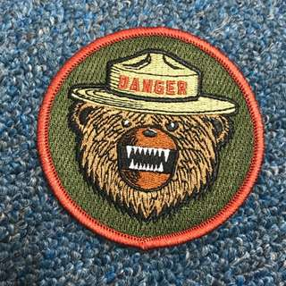 BNIP Danger Bear Tactical Morale Velcro Badge