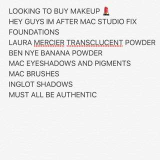 LOOKING TO BUY AUTHENTIC MAKEUP