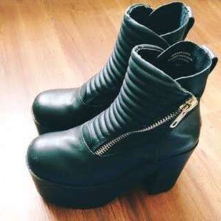 Unif Neo Leather Platform Boots