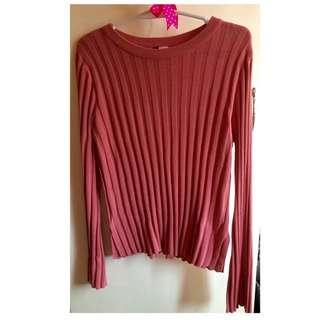 (H&M) Pink Longsleeve Top