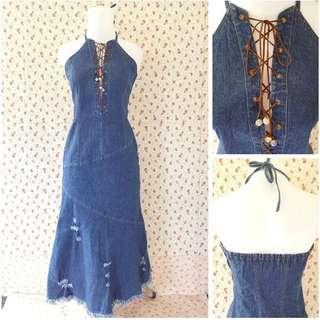 PREMIUM Denim long rip dress. 🌟
