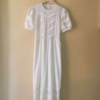 Long Beige Dress.