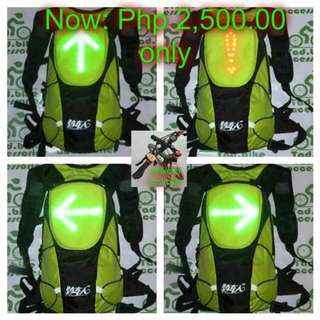 Bikeman Backpack With Signal Light