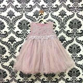 Dress Pesta Anak Dusty Pink