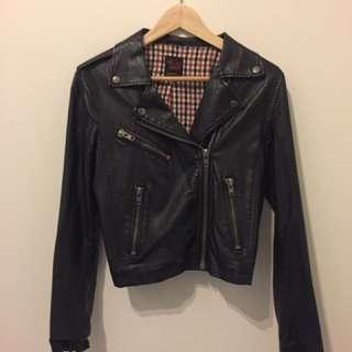 Neon Hart Vegan Leather Jacket Size Small