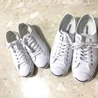 Couple Shoes Converse Jack Purcell White