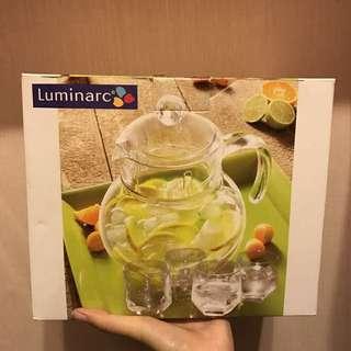 全新 法國樂美雅Luminarc 冷水壺套組(1壺4杯)