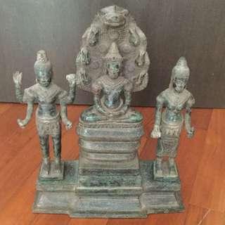 Vintage Khmer Buddha Statue